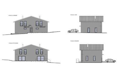 PŘIPRAVUJEME! Novostavba rodinného domu se dvěma bytovými jednotkami, Mníšek pod Brdy
